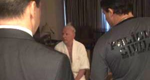 A photograph posted on Twitter which shows Brazillian police arresting Olympic Council of Ireland president Pat Hickey.