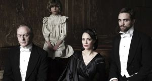 Liam Cunningham, Tom Sweet, Berenice Bejo and Robert Pattinson in The Childhood of a Leader
