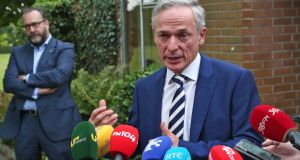 "Minister for Education Richard Bruton: ""I would be concerned. I know the chief examiner has looked at this and there do seem to be difficulties in areas such as trigonometry and algebra."" Photograph: Colin Keegan/Collins"