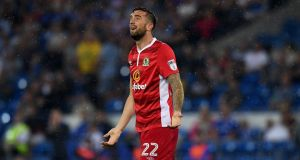 Shane Duffy of Blackburn was out of luck on Wednesday night at Cardiff City. Photograph: Stu Forster/Getty Images