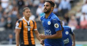 Riyad Mahrez has signed a new four-year deal with Leicester City. Photograph: Reuters