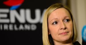 Former Renua leader Lucinda Creighton, leader of Renua speaking at press conference in Buswells Hotel, Dublin last May. Photograph: Dara Mac Dónaill/The Irish Times