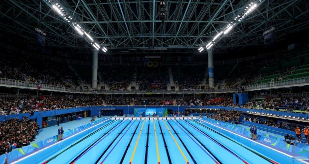 research has pointed to a possible current at the olympic pool in rio photograph