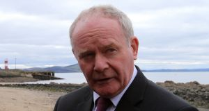 Martin McGuinness: 'The Taoiseach needs to lead in defending our national interest in the working out of the Brexit vote. The clock is ticking.' Photograph:  Niall Carson/PA