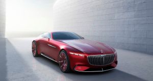 The Vision coupé is 6m long, purely a design statement but a hint at where future Mercedes-Maybach models are going.