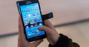 Android smartphone: adding a memory card and storing in the cloud are just some ways to increase capacity. Photograph: Geert Vanden Wijngaert/AP Photo