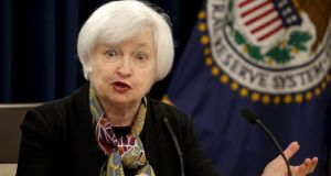 US Federal Reserve chair Janet Yellen: minutes from the Fed's last meeting helped quell speculation that borrowing costs could rise as soon as next month. Photograph: Kevin Lamarque/Reuters