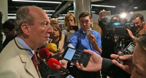 Olympic tickets: Minister for Sport Shane Ross after returning from Rio, where he met Pat Hickey. Photograph: Colin Keegan/Collins Dublin