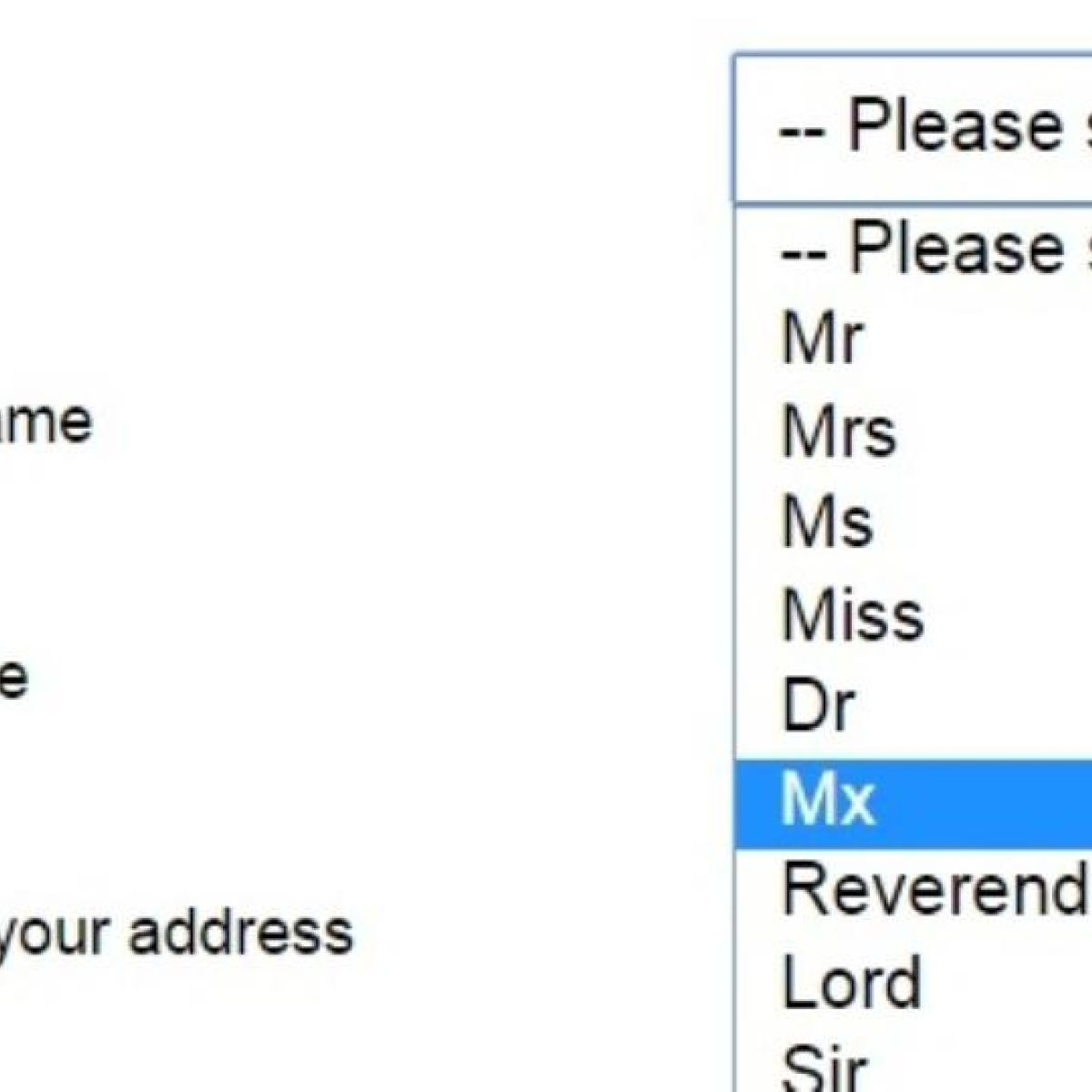 the question should we replace mr mrs and ms with the gender