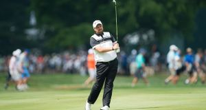 Shane Lowry shot a second round 65 in the Wyndham Championship. Photograph: Getty