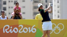 Leona Maguire shot a 74 in her third round in Rio. Photograph: Getty