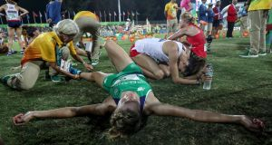 Ireland's Natalya Coyle after finishing in seventh on Friday night. Photograph: Dan Sheridan/Inpho