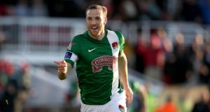 Karl Sheppard scored one of Cork City's four goals in their 4-1 away win at Longford Town in the FAI Cup. Photograph: Ryan Byrne/Inpho