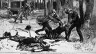 Phoenix Park Murders, May 1882: the assassination  of chief secretary  Lord Frederick Charles Cavendish and permanent Irish under secretary Thomas Henry Burke in Phoenix Park by a republican group; from Le Monde Illustre in  1882. Photograph: Hulton Archive/Getty Images