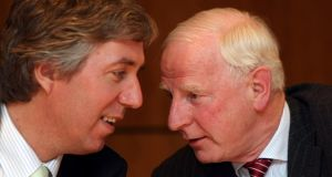 John Delaney and Pat Hickey at an Olympic Council of Ireland extraordinary meeting in 2008: the FAI chief executive has been touted as a possible successor at the head of the OCI. Photograph: James Crombie/INPHO