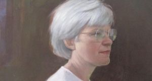 Ballinglen Arts Foundation: the centre's founder Margo Dolan in a detail of a portrait by Randall Exon