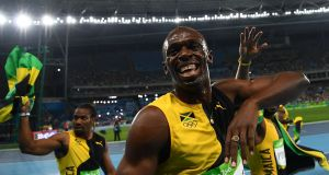 Jamaica's Usain Bolt was pretty happy with his work in Rio. Photograph: Getty Images