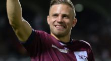 Bordeaux-Begles' Irish outhalf Ian Madigan at the end of his French Top 14 debut. Photograph: Getty Images