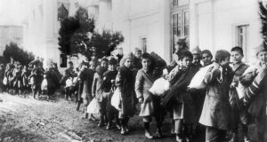 Greek and Armenian war orphans in  1922: after their parents were killed during the 1919-1922 conflict between Greece and Turkey, they were sent to Greek orphanages. Photograph: Keystone-France/Gamma-Keystone via Getty Images