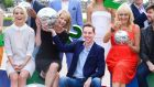 Kathryn Thomas, Claire Byrne, Ryan Tubridy and Miriam O'Callaghan at the launch of RTÉ's new schedule in Dublin yesterday. Photograph: Cyril Byrne