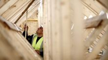 Persimmon rose more than 4 per cent after Britain's second-largest housebuilder said its reservation rate had risen an annual 17 per cent since the start of July.