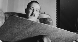 Austrian novelist Stefan Zweig at work, circa 1930. Photograph: Three Lions/Hulton Archive/Getty Images