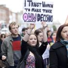 A pro-choice march in Dublin. Photograph: iStock