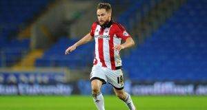 Brentford and Ireland midfielder Alan Judge is set to undergo a medical at Newcastle United. Photograph: Getty