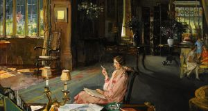 Sir John Lavery's 'Mary Borden and her family at Bisham Abbey' ((£150,000-£250,000) at Sotheby's Irish Art sale next month