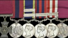 Lieut Maurice Dease received his Victoria Cross posthumously for his bravery in maintaining his machine gun post despite being wounded five times.