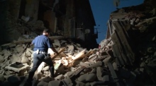 Aftermath of central Italy earthquake
