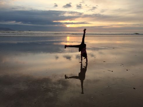 Our daughter Freyja on Banna Beach, Co Kerry. Photograph: Stephen Walsh