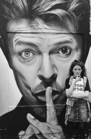Ruby and Bowie.  Photograph: Rhodelle Burke