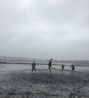 """On a grey day in Kilkee, Eoin O'Byrne and Paul Conway beat Joe Gleeson and John Dinneen 2-0."" Photograph: Brid Dinneen"