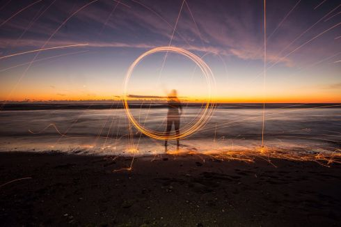 """My steel wool photo of the summer sunset."" Photograph: Cian Ryan"