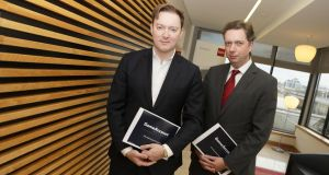 GAN chief executive Dermot Smurfit jnr (left, with chief financial officer Desmond Glass): 'Everyone who invested in the flotation probably did so with an eye on real-money gaming'.