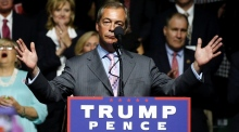 'I wouldn't vote for Hillary if you paid me': Nigel Farage backs Trump