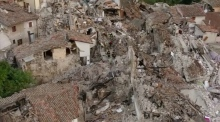 Drone footage shows devastation after Italy earthquake