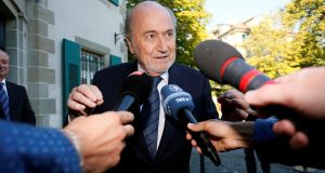 Sepp Blatter's appeal against his six-year ban began on Thursday. Photograph: Reuters