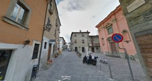 Via Roma in the historic central Italian town of Amatrice, before the earthquake. Photograph: Google street view