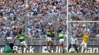 Dublin's Kevin McManamon scores his side's second goal of the game against Kerry in the All-Ireland semi-final in 2013. Photograph: Ryan Byrne/Inpho