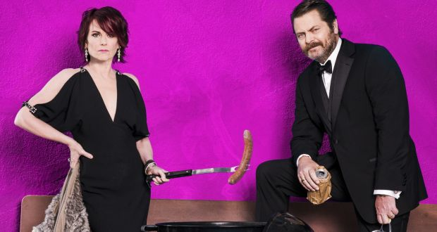 Image result for Nick offerman and Tina Fey