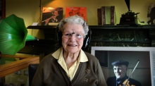 101-year-old woman donates her traditional music recordings to the State