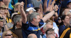 Tipperary and Kilkenny fans at Croke Park for All-Ireland hurling finals is an all too familiar sight. Photograph: Dara Mac Dónaill/The Irish Times.