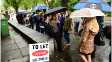 A property-rental queue at Northumberland Road, Dublin, in 2012. Photograph: Bryan O'Brien/The Irish Times