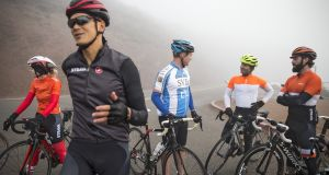 Members of  a JSV SF Startup Ride. Photograph: Laura Morton/The New York Times