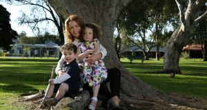 Vicki Buckley with her kids Hannah (5) and Jack (2). Photograph: Philip Gostelow