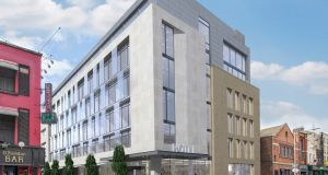 Rendering of Irish property and investment group Tetrarch Capital's proposed Sackville Place hotel