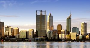 Perth at dusk, on Australia's west coast. File photograph: Getty Images/iStockphoto