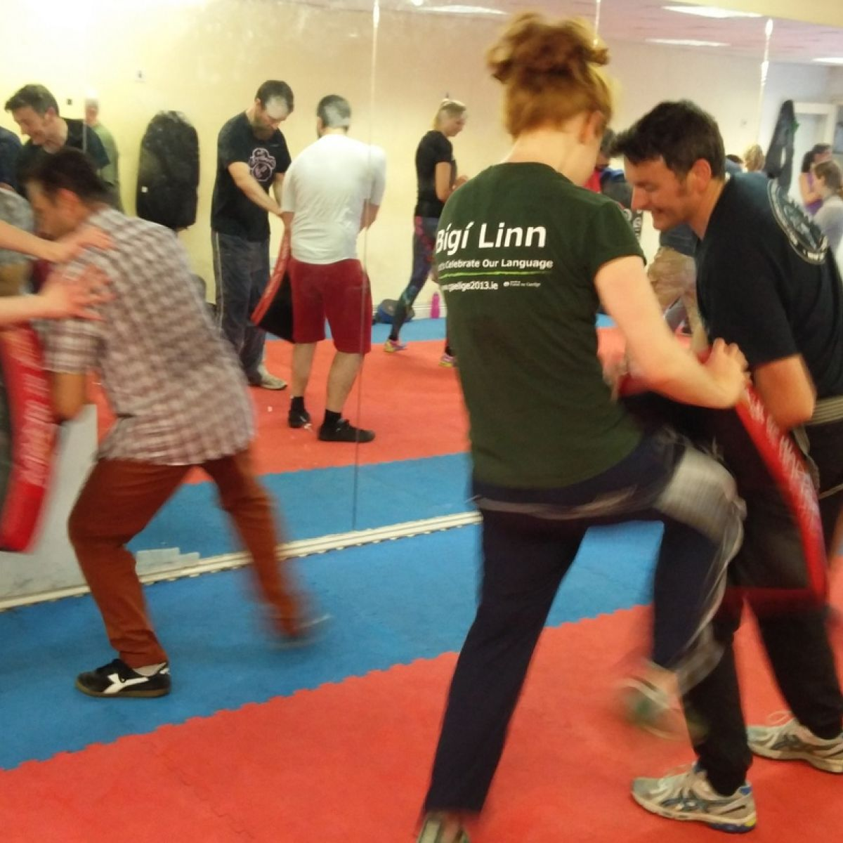 Grab his finger and snap it': attending a Krav Maga class